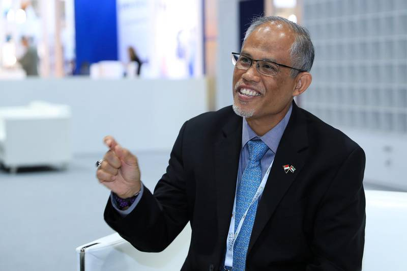 Abu Dhabi, U.A.E., Janualry 15, 2019.  Day 2 Abu Dhabi Sustainability Week.Masagos Zulkifli, Minister for the Environment and Water Resources, Singapore.Victor Besa / The NationalSection:  NAReporter:  Nick Webster