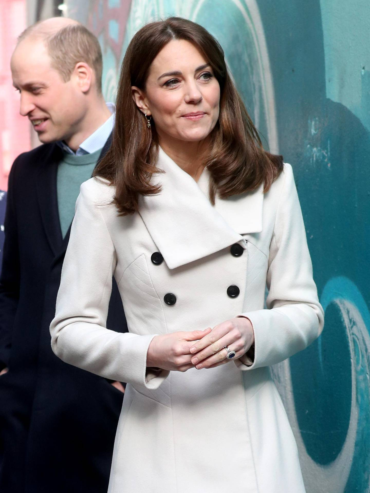 DUBLIN, IRELAND - MARCH 04: Catherine, Duchess of Cambridge views artwork as she and Prince William, Duke of Cambridge visit Jigsaw, the National Centre for Youth Mental Health, which provides vital support to young people aged 12-25 during day two of their visit to Ireland on March 04, 2020 in Dublin, Ireland. (Photo by Chris Jackson/Getty Images)