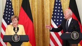Biden and Merkel amicably paper over disagreements at White House