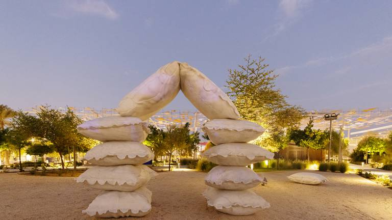 An image that illustrates this article 'Pillow Fort': first glimpse of the public artwork at Expo 2020 Dubai