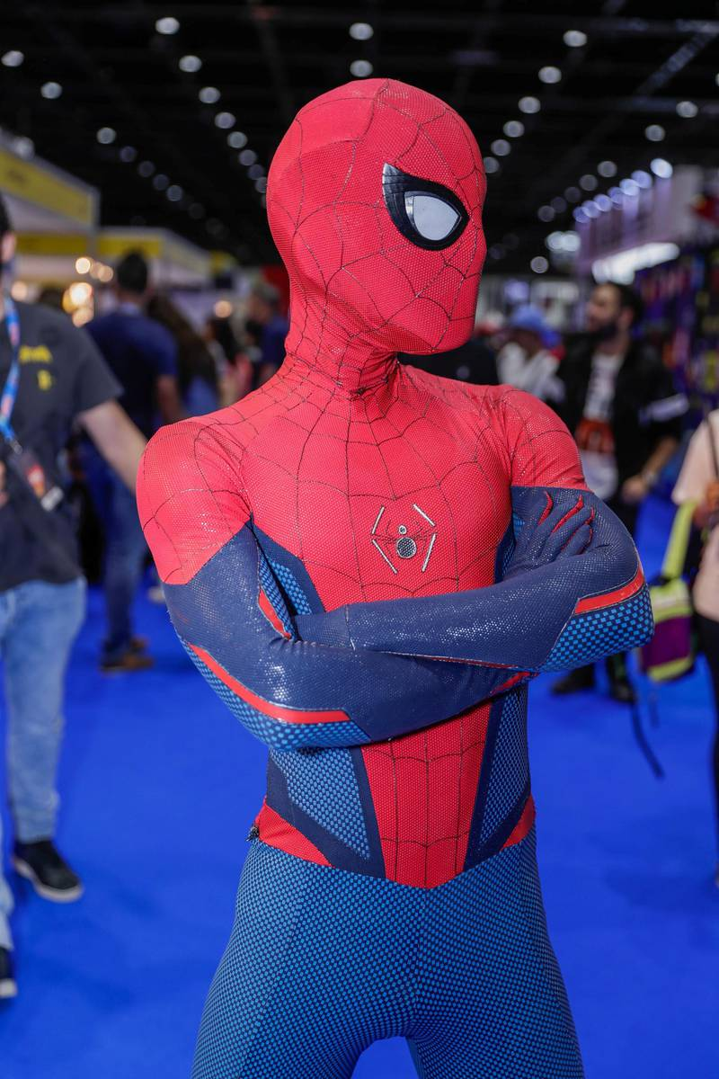 Dubai, April 12, 2019.  MEFCC day 2-Kevin Lim as Spiderman.Victor Besa/The National.Section:  AC  Reporter:  Chris Newbould