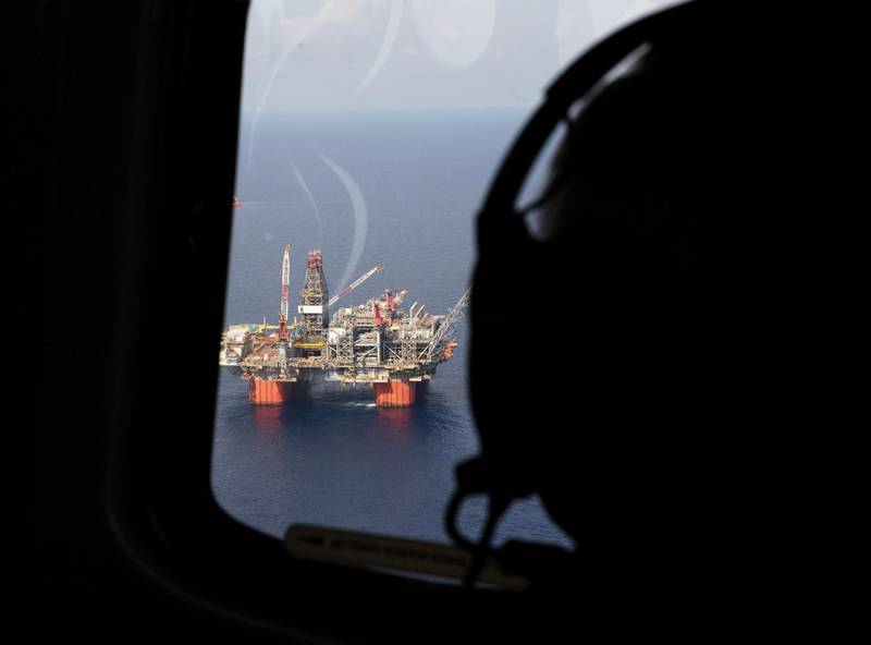 FILE PHOTO: Representative Steve Scalise (R-LA) views BP's Thunder Horse Oil Platform in the Gulf of Mexico, from the air, 150 miles from the Louisiana coast in this May 11, 2017 handout photo obtained by Reuters June 26, 2017.   Chris Bond/Handout via REUTERS  ATTENTION EDITORS - THIS IMAGE WAS PROVIDED BY A THIRD PARTY NO SALES NO ARCHIVE