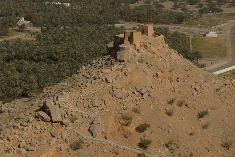 AL RAMS, UNITED ARAB EMIRATES Ð February 18, 2008: The 19th Century, Dhayah Fort located North of the town of Al Rams, near the Hajjar Mountains. (Photo by Ryan Carter / ADMC) *** Local Caption *** RC004-RasAlKhaimah.jpg