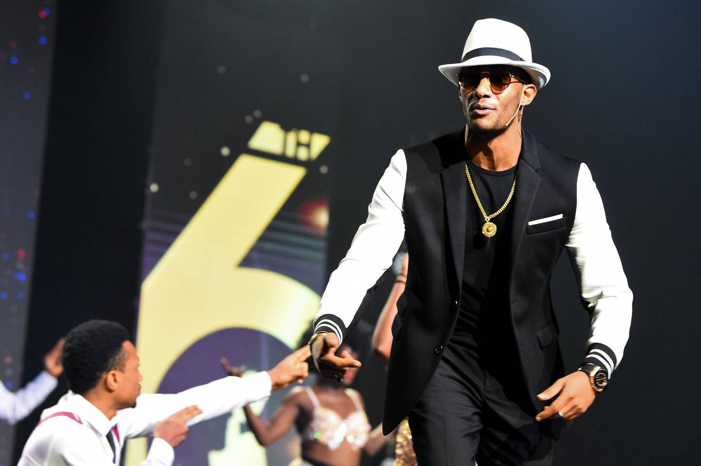 Egyptian singer Mohamed Ramadan performs during the 2019 All Africa Music Awards (AFRIMA) in Lagos, on November 24, 2019. The All Africa Music Awards (AFRIMA) is designed to create value for Africans, unite Africans through music, promote and showcase African artists and their music to non-African population in Africa and the global audience. / AFP / PIUS UTOMI EKPEI