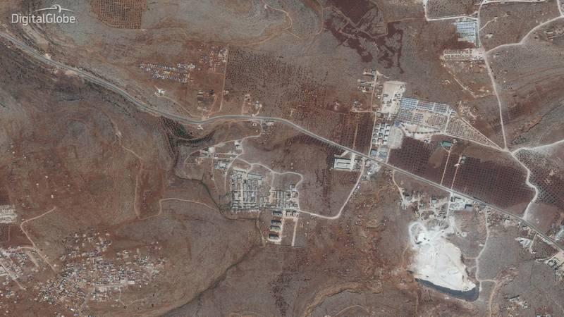 Idlib Displacement Camp B. This image was taken on 26/09/2018. Courtesy Digital Globe