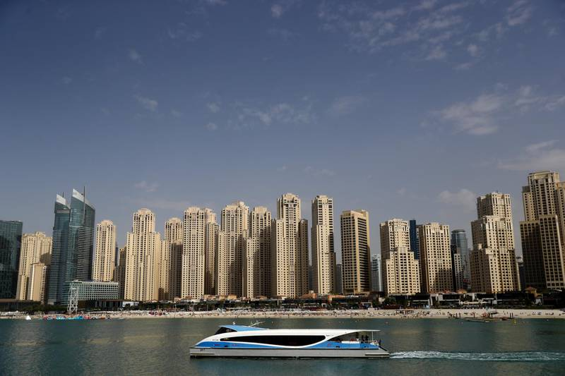 DUBAI, UNITED ARAB EMIRATES - MARCH 19: A general view of Jumeirah Beach Residence (JBR) on March 19, 2020 in Dubai, United Arab Emirates. (Photo by Francois Nel/Getty Images)