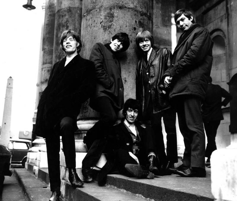 The British rock group The Rolling Stones outside St George's church, Hanover Square, London.  Original Publication: People Disc - HW0626, 17 January, 1964   (Photo by Express Newspapers/Getty Images)