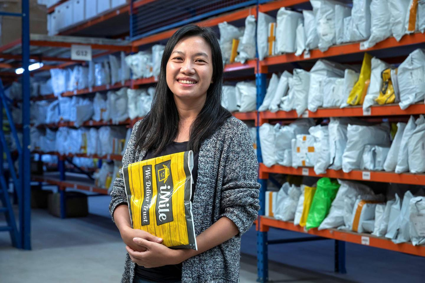 DUBAI, UNITED ARAB EMIRATES. 29 MARCH 2021. Rita Huang is the founder of iMile, a solution to digitalise last mile delivery services in order to address key challenges in the logistics industry. (Photo: Antonie Robertson/The National) Journalist: David Dunn. Section: Business.