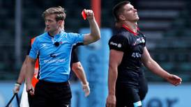 England captain Owen Farrell given five-game ban after high tackle red card