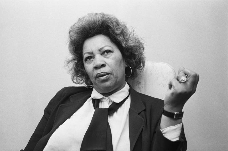 (Original Caption) 12/23/85-Albany, New York: Novelist Toni Morrison discusses her venture into playwriting in Albany. Morrison has earned a reputation as one of America's best fiction writers with her four novels. Getty Images