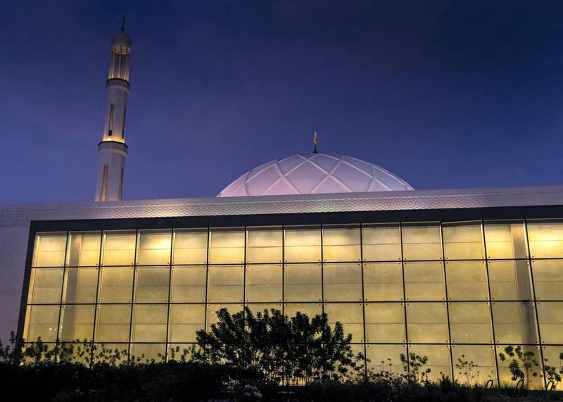 DUBAI, UNITED ARAB EMIRATES. 9 JUNE 2020. Exterior of Masjid Nad Al Sheba. (Photo: Reem Mohammed/The National)Reporter:Section: