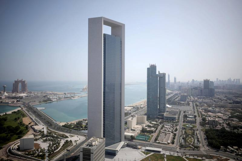 FILE PHOTO: A general view of ADNOC headquarters in Abu Dhabi, United Arab Emirates May 29, 2019. REUTERS/Christopher Pike/File Photo