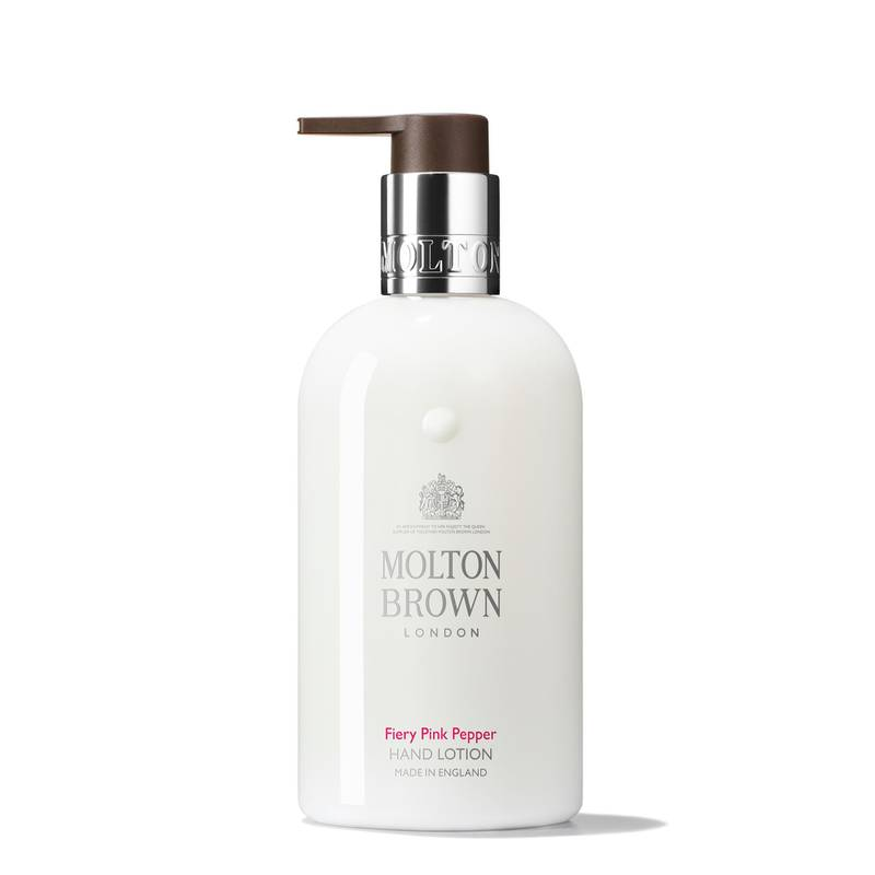 Molton Brown, Fiery Pink Pepper Hand lotion AED140