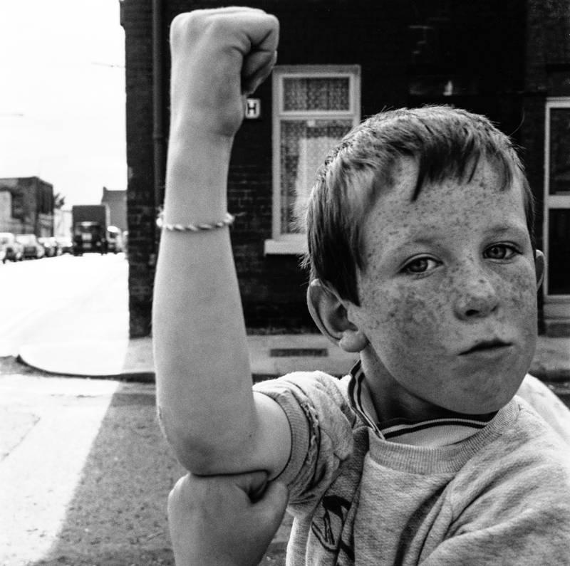 Boy in Lurgan Street, Dublin