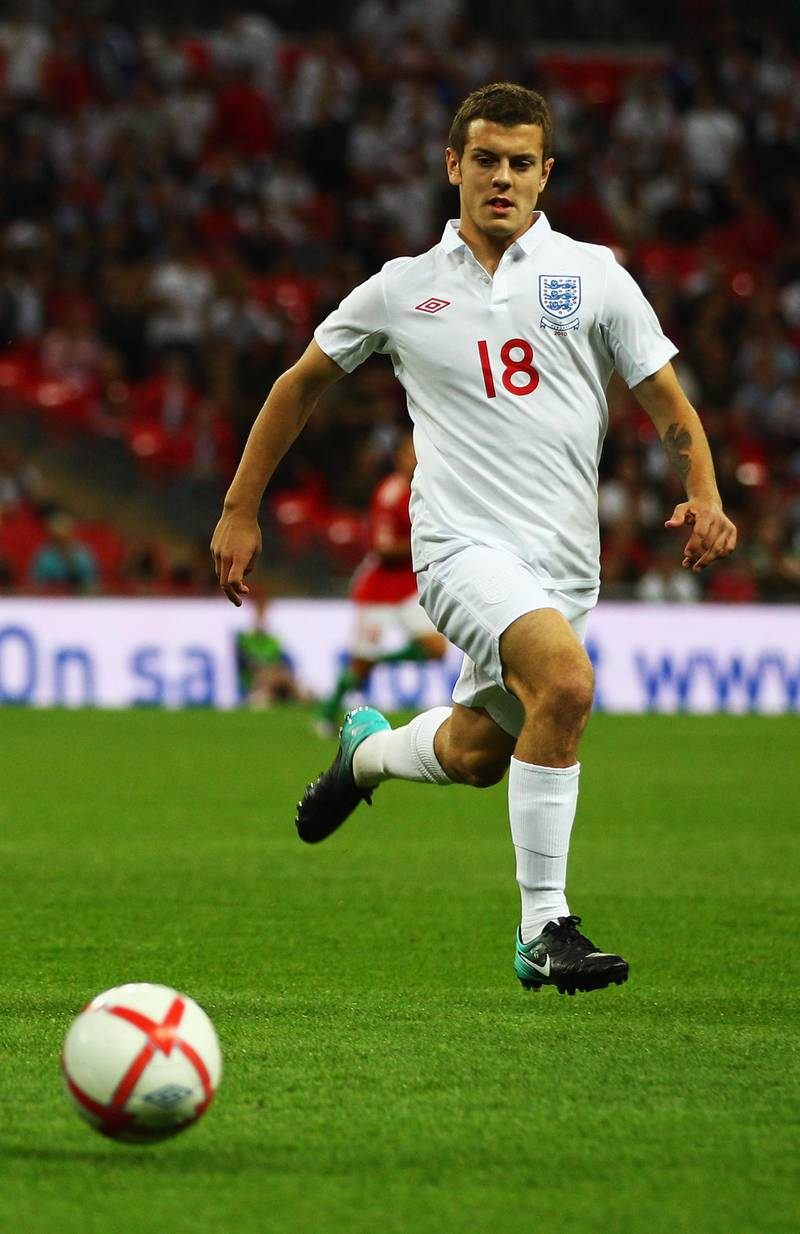 LONDON, ENGLAND - AUGUST 11:  Jack Wilshere of England in action during the International Friendly match between England and Hungary at Wembley Stadium on August 11, 2010 in London, England.  (Photo by Richard Heathcote/Getty Images)