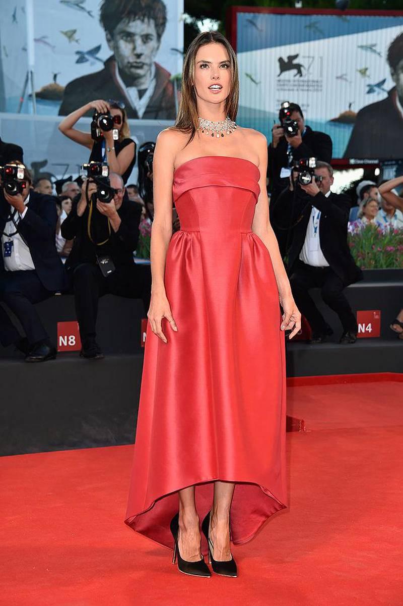 VENICE, ITALY - AUGUST 28:  Alessandra Ambrosio attends the 'La Rancon De La Gloire' premiere during the 71st Venice Film Festival on August 28, 2014 in Venice, Italy.  (Photo by Pascal Le Segretain/Getty Images)