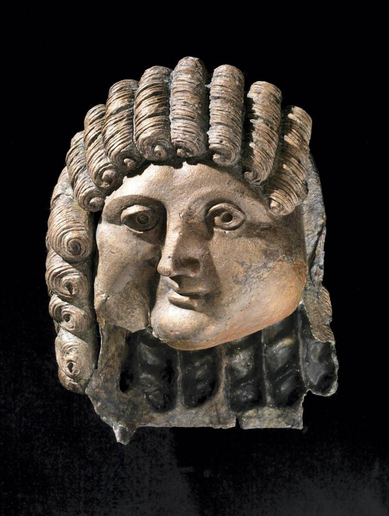 Head of a man 100 BCE-200 CE Saudi Arabia, Qaryat al-Faw Cast bronze Riyadh, Archaeology Department museum, King Saud University. Photo credit: © Saudi Commission for Tourism and National Heritage