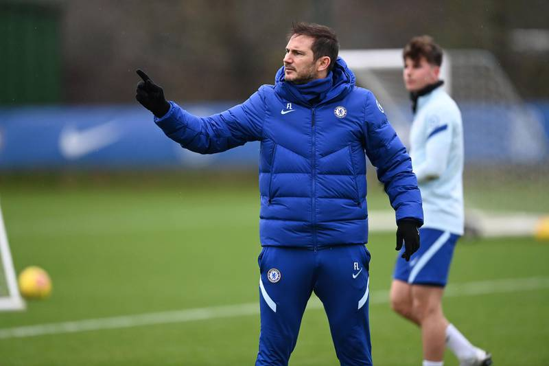 COBHAM, ENGLAND - DECEMBER 18:  Frank Lampard of Chelsea during a training session at Chelsea Training Ground on December 18, 2020 in Cobham, England. (Photo by Darren Walsh/Chelsea FC via Getty Images)