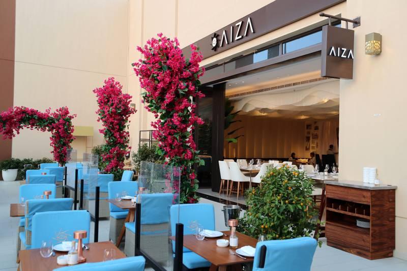 Dubai, United Arab Emirates - Reporter: Sophie Prideaux. Lifestyle. Food. Restaurant feature. Eat your way around The Pointe, The Palm. Aiza. Monday, January 18th, 2021. Dubai. Chris Whiteoak / The National