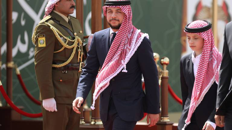 An image that illustrates this article Crown Prince Hussein bin Abdullah of Jordan says he has left quarantine