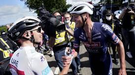 Tour de France: UAE Team Emirates' Tadej Pogacar secures podium finish as Mathieu van der Poel wins Stage 2