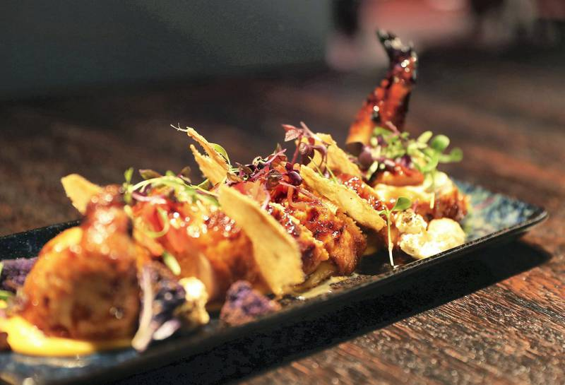 DUBAI, UNITED ARAB EMIRATES , September 27 – 2020 :- Brass Monkey Signature Chicken dish at the Brass Monkey, new dining and entertainment destination on the Bluewaters Island in Dubai.  (Pawan Singh / The National) For Lifestyle/Online/Instagram. Story by Janice Rodrigues