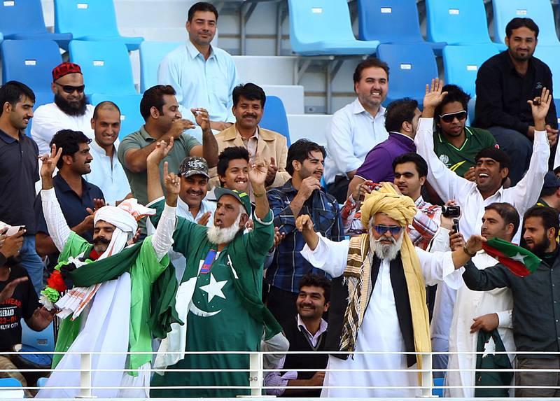 Dubai,  United Arab Emirates- January,  19, 2012: Pakistan cricket fans attends during the third day of the opening Test match between Pakistan and England at the Dubai International Cricket Stadium  in Dubai . (  Satish Kumar / The National ) For Sports