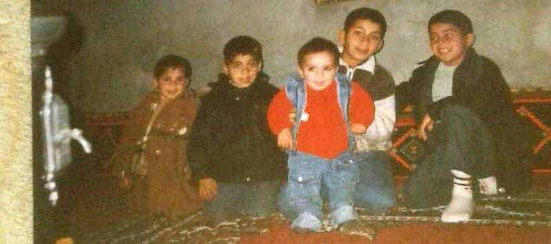 Mohammed Jomaa's children with their cousins before separation. Courtesy Mohammed Jomaa