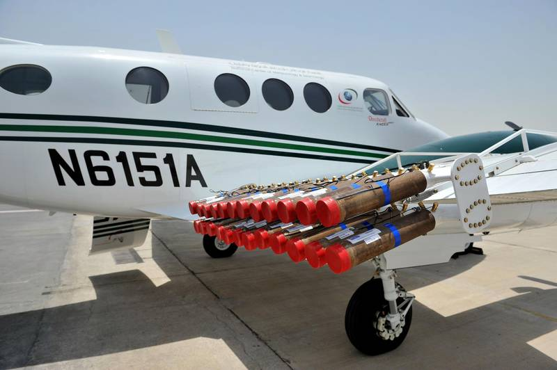Provided photo of cloud seeding operations in the UAE Courtesy National Centre for Meteorology and Seismology *** Local Caption ***  D3S_3778.JPG