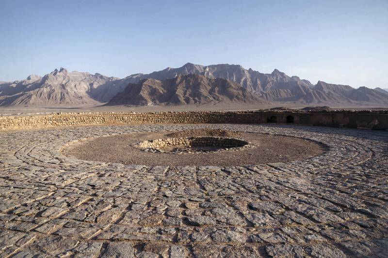 At the top of a Zoroastrian Tower of Silence near Yazd in southern Iran. Photo: Christopher Wilton-Steer and The Aga Khan Development Network