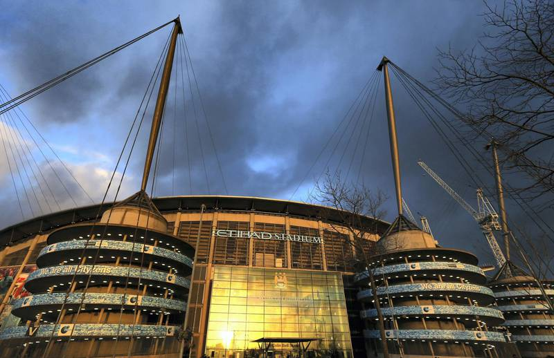 MANCHESTER, ENGLAND - MARCH 04:  A general view of the Etihad Stadium is seen prior to the Barclays Premier League match between Manchester City and Leicester City at Etihad Stadium on March 4, 2015 in Manchester, England.  (Photo by Alex Livesey/Getty Images)