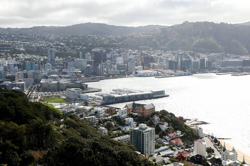 WELLINGTON, NEW ZEALAND - SEPTEMBER 22: A general view of Wellington City after a move to COVID-19 Alert Level 1 on September 22, 2020 in Wellington, New Zealand. Coronavirus restrictions have eased across New Zealand as of midnight, with all cities outside of Auckland moved to COVID-19 Alert Level 1. Some restrictions remain in place for Auckland, with the city to move to COVID-19 Alert Level 2 as of 11:59 pm on Wednesday 23 September. In Auckland, face coverings will still be required on public transport and on planes while for the rest of New Zealand, face coverings will no longer be mandatory but will be encouraged on planes and public transport. (Photo by Hagen Hopkins/Getty Images)