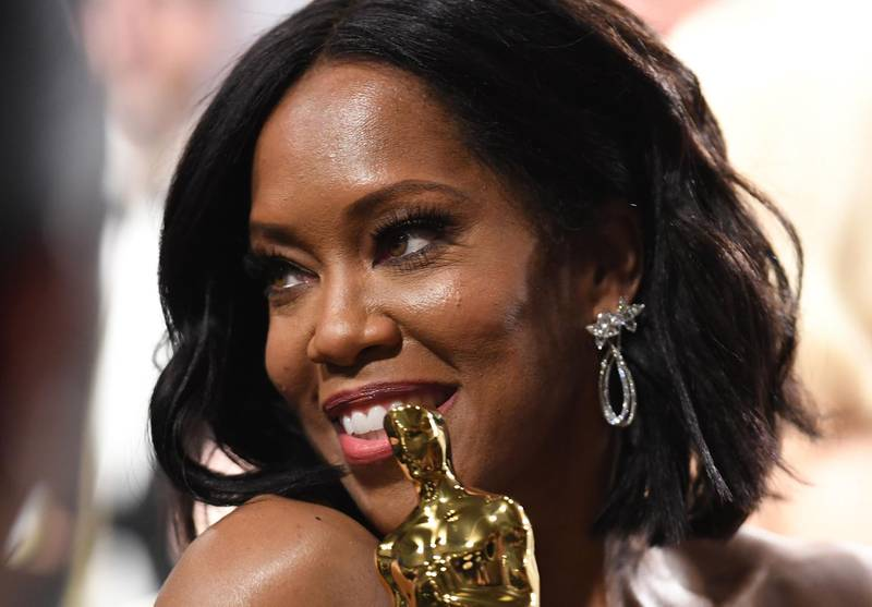 """Best Supporting Actress winner for """"If Beale Street Could Talk"""" Regina King attends the 91st Annual Academy Awards Governors Ball at the Hollywood & Highland Center in Hollywood, California on February 24, 2019. / AFP / Robyn Beck"""