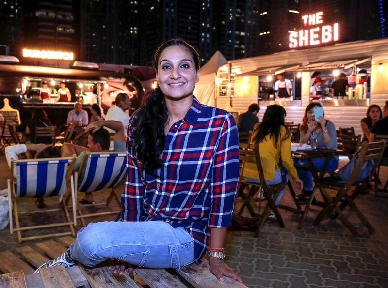Dubai, U.A.E., January 21, 2017.  Portraits  of Reema Shetty, who co-founded Foodsters company that develops Food Trucks, Shebi and Burgeritch. Victor Besa for The National ID: 28526 Reporter:  Jessica Hill Arts & Life *** Local Caption ***  VB_012117_al-Reema Shetty-15.jpg