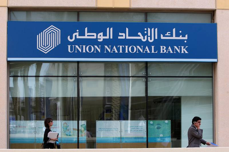 DUBAI , UNITED ARAB EMIRATES Ð Feb 8 : Branch of Union National Bank at Gold and Diamond park in Dubai. ( Pawan Singh / The National ) For Business Stock.