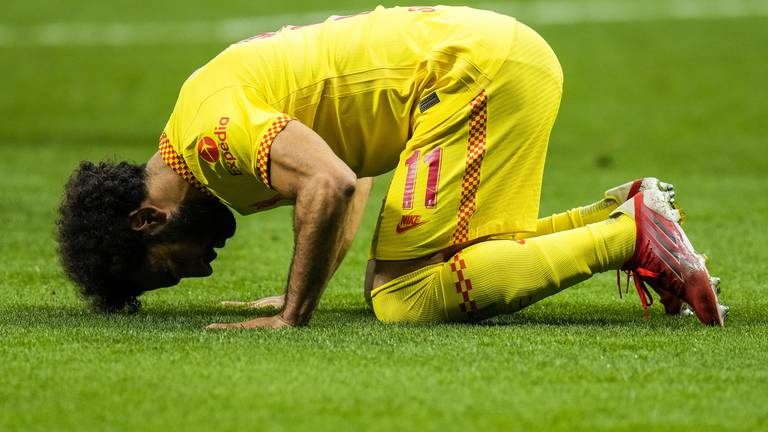 An image that illustrates this article Mohamed Salah proving himself the best in the world at Liverpool