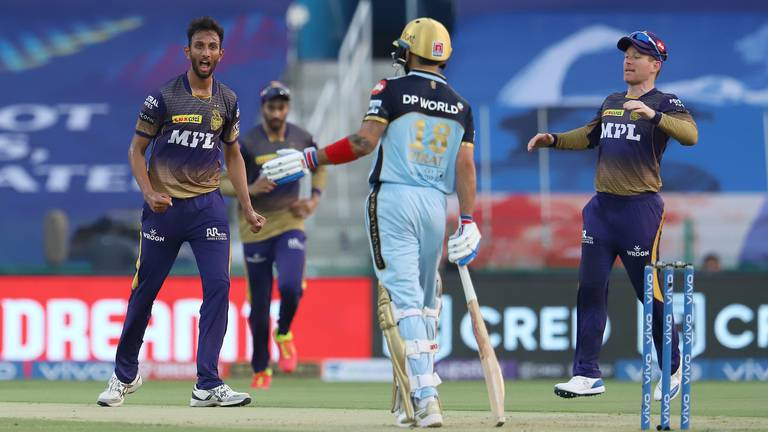 An image that illustrates this article Kolkata crush Bangalore in Virat Kohli's 200th IPL game