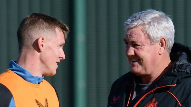 An image that illustrates this article Newcastle in training but could it be Steve Bruce's final match?