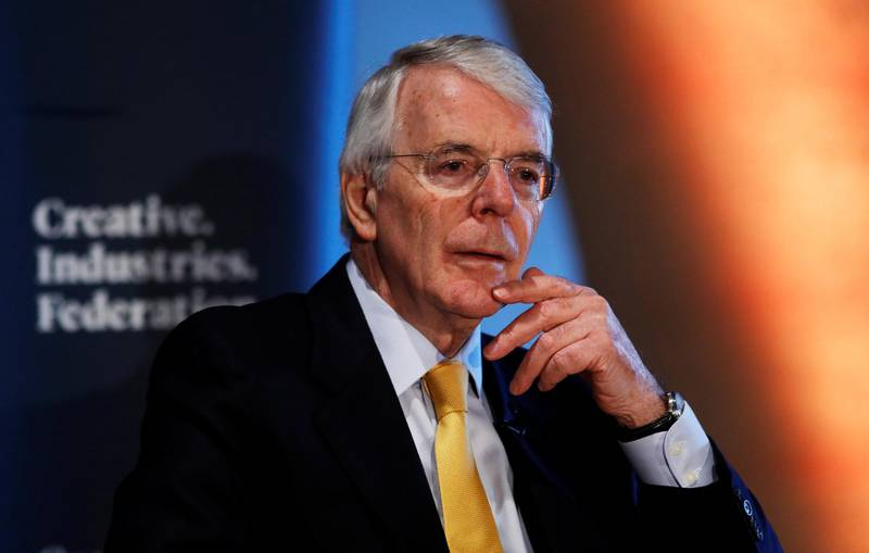 Britain's former Prime Minister John Major gives a speech on Brexit in London, February 28, 2018. REUTERS/Peter Nicholls
