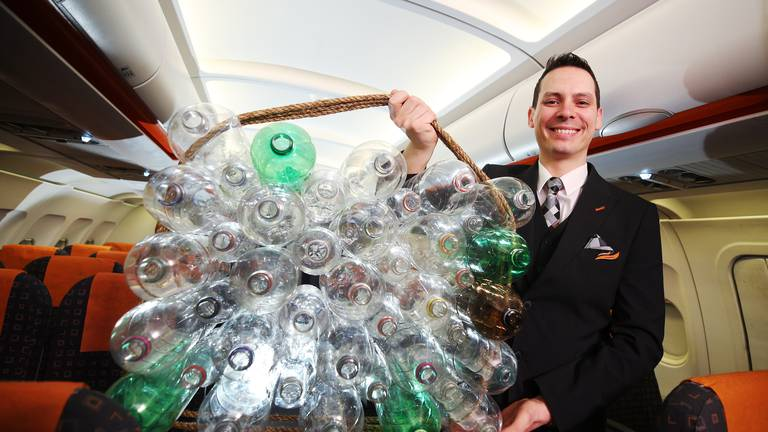 An image that illustrates this article UK's easyJet unveils new pilot and crew uniforms made from recycled plastic bottles