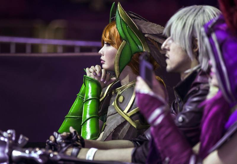 Dubai, United Arab Emirates, February 21, 2020.  Cosplay at Esports Festival World Finals at Meydan Grandstand, Dubai.  Cosplayer and one of the judges of the event, Alodia Gosiengfiao.Victor Besa / The NationalSection:  WkReporter:  None