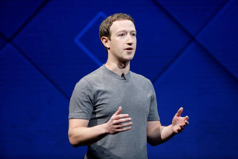 FILE PHOTO:  Facebook Founder and CEO Mark Zuckerberg speaks on stage during the annual Facebook F8 developers conference in San Jose, California, U.S., April 18, 2017. REUTERS/Stephen Lam/File Photo