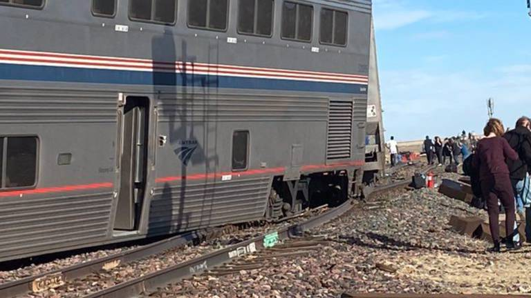 An image that illustrates this article Amtrak train derailment in Montana kills three people and injures several others