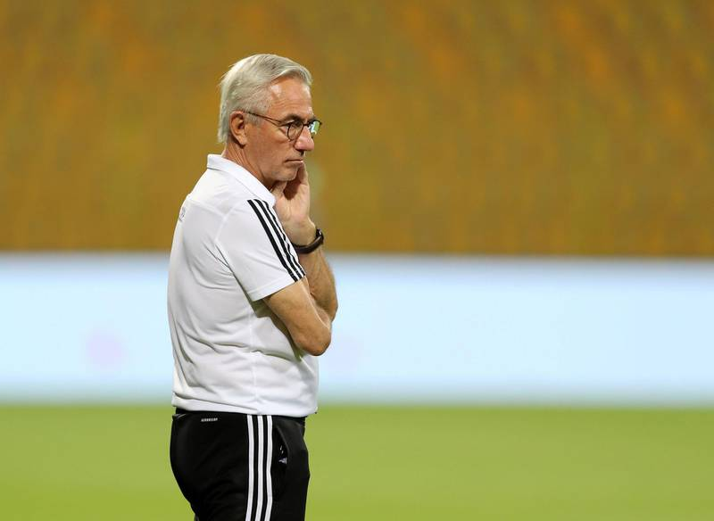 UAE manager Bert van Marwijk during the game between the UAE and Indonesia in the World cup qualifiers at the Zabeel Stadium, Dubai on June 11th, 2021. Chris Whiteoak / The National.  Reporter: John McAuley for Sport