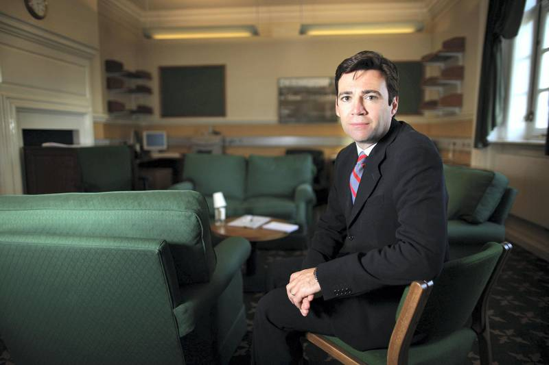 LONDON, ENGLAND - JUNE 16:  Labour Party leadership candidate Andy Burnham poses for a portrait in Portcullis House, Westminster on June 15, 2010 in London, England. Ed Balls, David Miliband, Ed Miliband, Diane Abbott and Andy Burnham are the five candidates who have won enough backing from fellow MPs to stand in the Labour leadership election.  (Photo by Peter Macdiarmid/Getty Images)