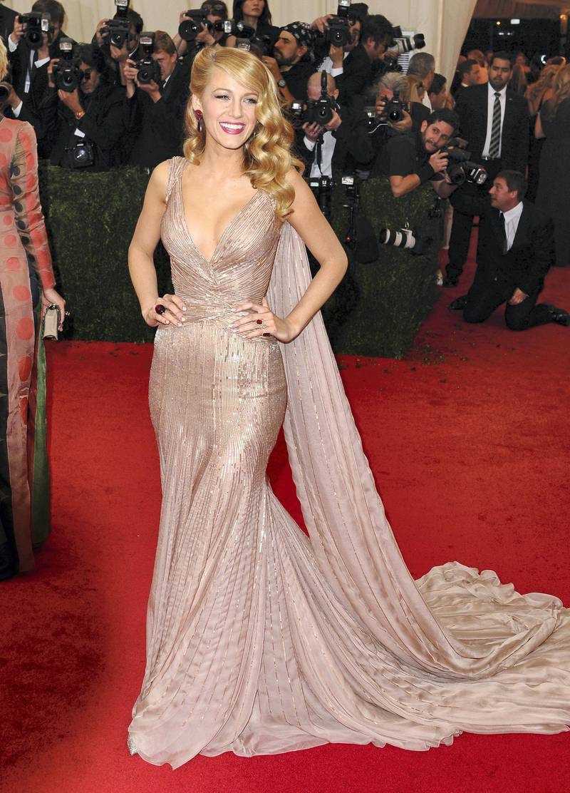 NEW YORK, NY - MAY 05:  Blake Lively attends the 'Charles James: Beyond Fashion' Costume Institute Gala at the Metropolitan Museum of Art on May 5, 2014 in New York City.  (Photo by Axelle/Bauer-Griffin/FilmMagic)