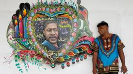 'Racism is more dangerous than coronavirus': Pakistani truck artist paints George Floyd mural in his Karachi home