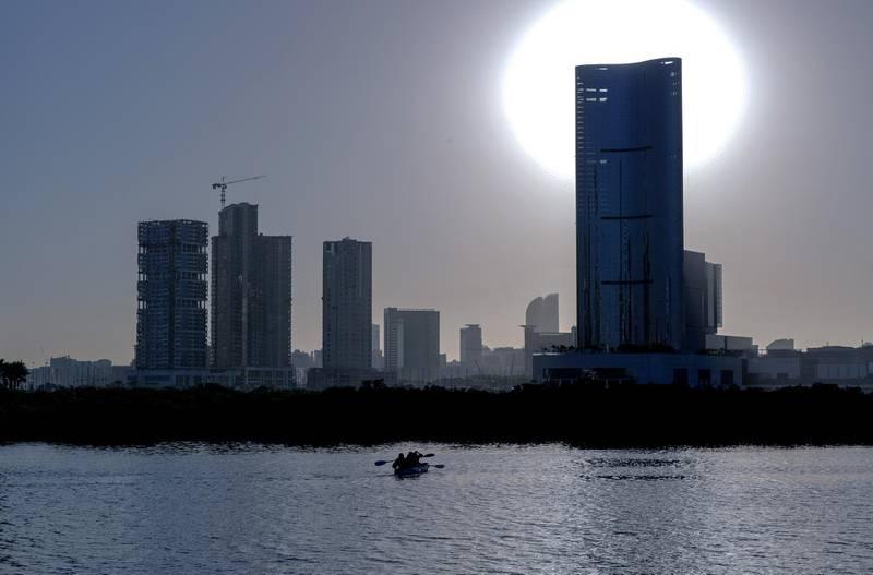 Abu Dhabi, United Arab Emirates, October  21, 2020.   Al Reem Island for area guide.  Reem Central Park Mangrove area.Victor Besa/The National.Section:  NAReporter:  Gillian Duncan