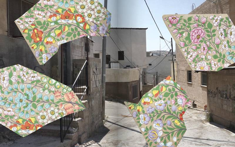 Praneet Soi's new artist's book, Anamorphosis, juxtaposes motifs and histories of Kashmir and Palestine. Courtesy Book Works and the Mosaic Rooms