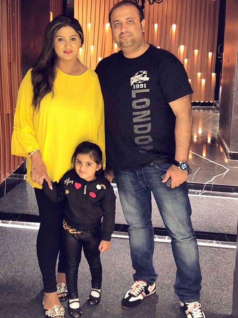 Mudassir Ali with his wife Zara Syed and three-year-old daughter in Dubai. He returned to the Emirates this weekend on a private charter flight with other UAE residents stuck in India for more than three months after the country shut down international travel to slow down the spread of the coronavirus. Courtesy: Mudassir Ali